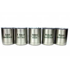 10 Ounce Personalized Stainless Steel Tumblers Wedding Party Gifts