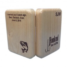 Alder Wood Custom Engraved Fishing Lure Box