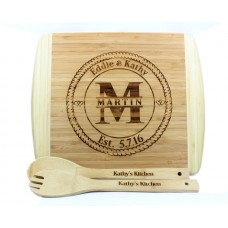 Bamboo Cutting Board With Circle Designs