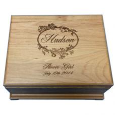 Personalized Alder Wood Jewelry Box