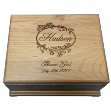 Personalized Alder Wood Jewelry Box