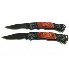 Custom Engraved Large Black Knife
