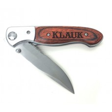 Personalized Pakkawood Knife with Serrated Blade