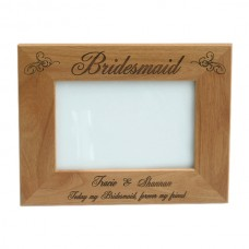 Alder Wood Bridesmaid/Maid of Honor Picture Frames