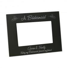 Black Aluminum Bridesmaid_Maid of Honor Picture Frames Black Metal