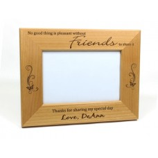 Alder Wood Best Friend Picture Frame