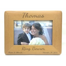 Alder Wood Ring Bearer Picture Frame Round Corners