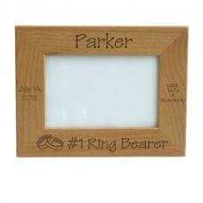 Alder Wood Ring Bearer Picture Frame Standard Frame