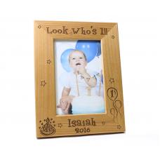 Childrens Alder Wood Birthday Picture Frame