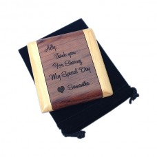 Personalized Wooden Pocket Mirror