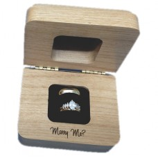 Alder Wood Engagement Ring Box