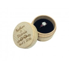 Custom Engraved Round Engagement Ring Box