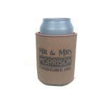 Personalized Leather Beer Can Holder