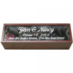 Rosewood Finish Wine Bottle Gift Box