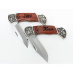 His and Her Deco Grip Engraved Pocket Knife