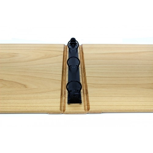 wood photo album with 3 ring binder