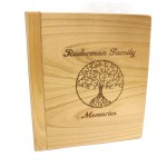 Alder wood photo album with 3-ring binder