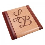 Personalized Wooden Pocket Mirror M2
