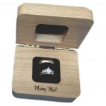 Alder Wood Engagement Ring Box